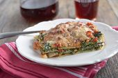 image of lasagna  - Lasagna with ricotta and spinach - JPG