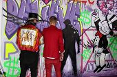 LOS ANGELES - DEC 18:  Alec Monopoly, Justin Bieber at the