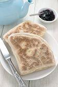 image of baking soda  - Irish Soda Bread or Soda Farls traditional Irish flat bread - JPG