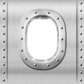 stock photo of ironclad  - metal porthole or window background - JPG