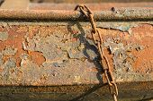 Closeup Of A Rusty Rowing Boat