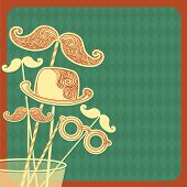 Moustache Party Background.vector Illustration