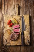 image of deer meat  - steak - JPG