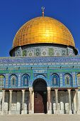 stock photo of aqsa  - Temple Mount with Al Aqsa mosque in the old town Jerusalem - JPG