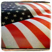 stock photo of veterans  - Instagram filtered style image of an American Flag for Memorial Day - JPG
