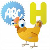 image of game-cock  - H is for Hen - JPG