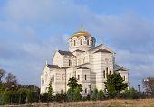 stock photo of sevastopol  - Vladimirsky Cathedral in Chersonese Sevastopol Crimea Russia - JPG