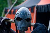 Medieval Knight Helmet poster