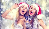 stock photo of christmas song  - Christmas party - JPG