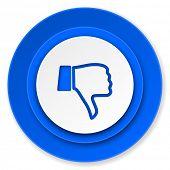 stock photo of dislike  - dislike icon - JPG