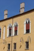 stock photo of ferrara  - Architecture in the city of Ferrara Emilia - JPG
