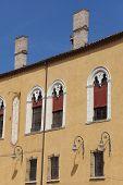 stock photo of ferrara  - Architecture in the city of Ferrara Emilia - JPG