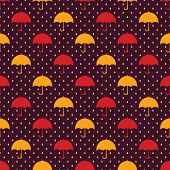 pic of rain  - Vintage seamless pattern with umbrellas - JPG