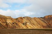 Multicolored Rhyolite Mountains In Landmannalaugar poster