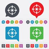 pic of crosshair  - Crosshair sign icon of Target aim symbol - JPG