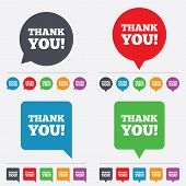 picture of polite  - Thank you sign icon of Gratitude symbol - JPG