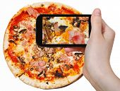 image of take out pizza  - photographing food concept  - JPG