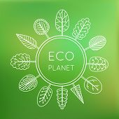 picture of globe  - Ecology concept eco planet - JPG