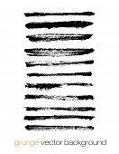 foto of stroking  - Vector set of grunge brush strokes - JPG