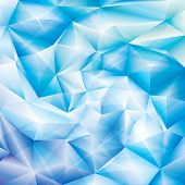 stock photo of ice crystal  - Abstract ice blue crystal spiral background - JPG
