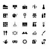 foto of fibonacci  - Art activity icons on white background stock vector - JPG