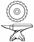 pic of anvil  - Circular saw blade and anvil - JPG