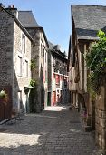 image of petition  - Medieval buildings in the ancient french town of Dinan in Brittany - JPG