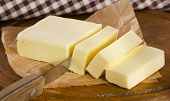 image of margarine  - Butter on cutting board  - JPG