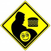 picture of  habits  - Humorous concept sign to avoid junk food and change eating habits - JPG