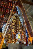stock photo of altar  - Altar in Basilica la Altagracia Church in Higuey city Dominican Republic - JPG