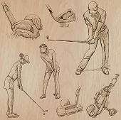 pic of classic art  - GOLF Golfers Golf and Golf Equipment - JPG