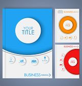 picture of octagon shape  - Design color brochures for business in geometric style lines circles diamonds and octagons - JPG