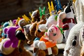 foto of racy  - The photograph captures drying in the sun after washing toys summer in the village - JPG