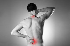 pic of red-necked  - Man with backache - JPG