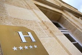 picture of bordeaux  - Facade of a five stars hotel near Bordeaux France - JPG