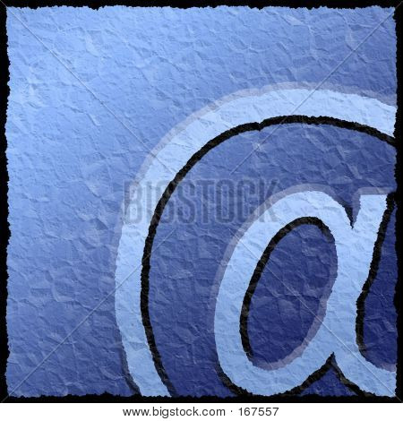 Textured Email Sign poster