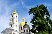 image of church mary magdalene  - beautiful Orthodox Church of Mary Magdalene on a background of blue sky - JPG