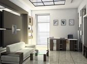 picture of business-office  - office rest room interior - JPG