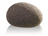 picture of dapple-grey  - Stone on white background  - JPG