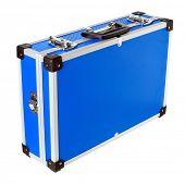 foto of fail-safe  - Blue aluminic case on white background  - JPG