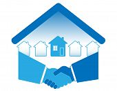 image of covenant  - Warm handshake and successful real estate transactions - JPG