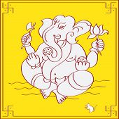 picture of laddu  - Ganesh the Hindu God Eating Sweets - JPG