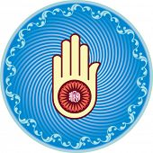 stock photo of swastik  - Jain Emblem - JPG