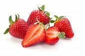 Fresh Ripe Strawberries. poster
