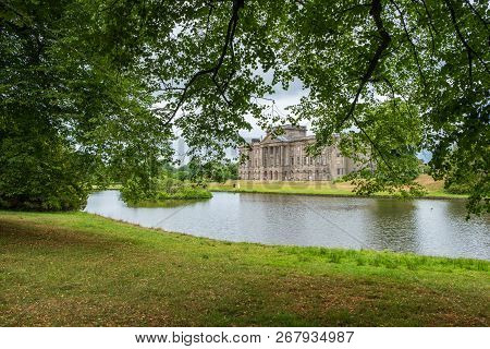 Lyme Hall And Its Pond