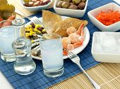 pic of ouzo  - Seafood and ouzo - JPG