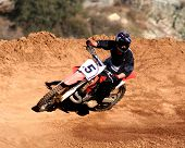 picture of dirt-bike  - motocross racer - JPG