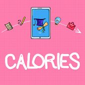 Conceptual Hand Writing Showing Calories. Business Photo Text Energy Released By Food As It Is Diges poster
