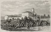stock photo of algiers  - Old illustration of Ben Aknoun orphan asylum - JPG