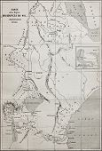 foto of bonaparte  - Old map of Nile sources region - JPG